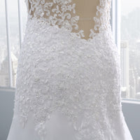 2019 Vestido de noiva Short Lace Backless Wedding Dresses Mermaid Appliques Pearls