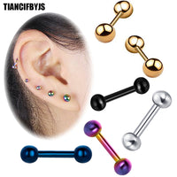 Ear Cartilage Tragus Earring Stainless Steel Piercing Helix Barbell Woman Ear Stud Lip