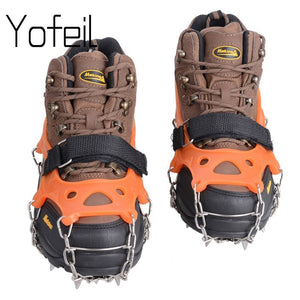 19 Teeth  Claw Traction Crampon Anti-Slip Ice Cleats Boots Gripper Chain