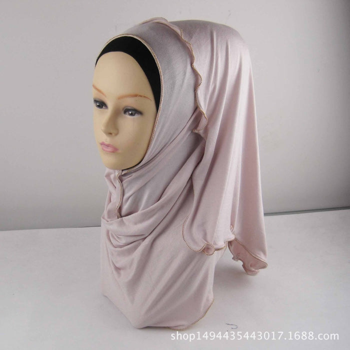 15 colors Muslim Hijab Scarf Soft Cotton Long scarf with zipper