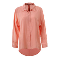 GLO-STORY Women's Casual Button Blouse 2018 Autumn Long Sleeve Shirts Solid Loose Classic Tops Blusas WCS-3674