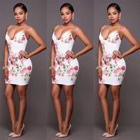 Neck Sleeveless Evening Party Clubwear Strappes Thigh Length Short Mini Dress