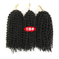 Crochet Braids kinky Twist Hair 8 inches Curly Crochet Hair Crochet Braids Hair Ombre Synthetic Hair Extensions