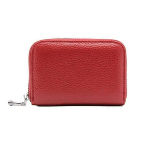 Vintage Genuine Leather Cowhide Rfid Card Holder Women Men Wallet For Credit Card Business Card Holders Organizer Purse Bag