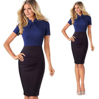 Bodycon Slim Pencil Lady Dress Women Sexy Front Hole Summer Dress