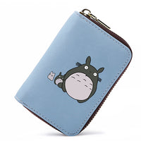 APP BLOG Cute Cartoon Totoro Women Men Credit ID Card Holder Case Extendable Bags Small Wallet Coin Purse Carteira Feminina Muje