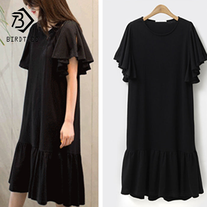 2018 Summer New Arrival Woman T-Shirt Dresses Fashion O-Collar Elegance