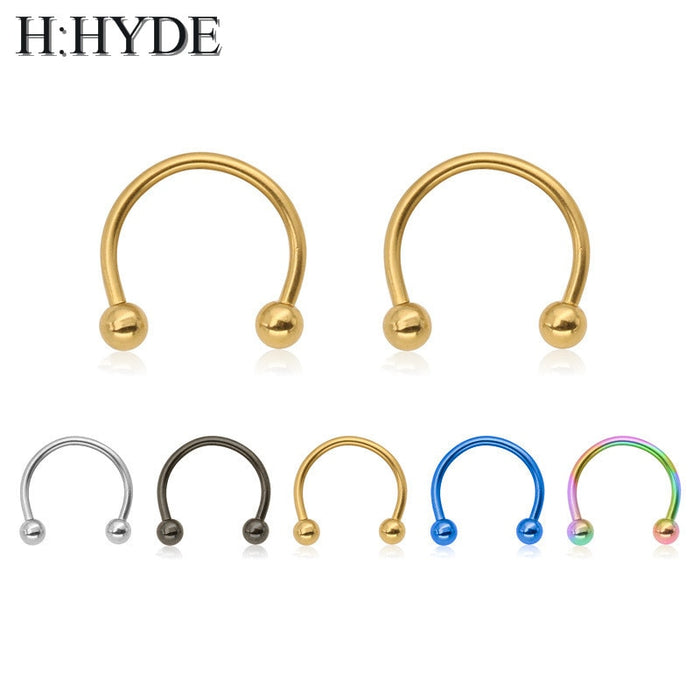 hot sell 1PCS Classic Cute Open Hoop Stainless C Clip Steel