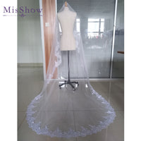 2019 Wedding Veil Lace Cathedral wedding accessories White