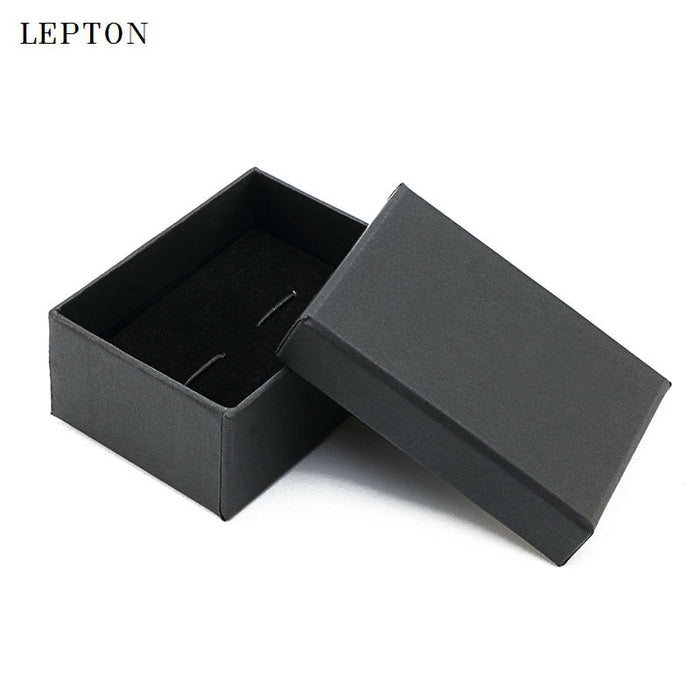 2017 Black Paper Cufflinks Boxes 30 PCS/Lots High Quality Black matte paper Jewelry Boxes Cuff links Carrying Case wholesale