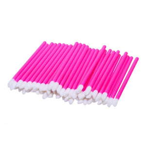 50Pcs/lot Disposable Sponge Lip Brush Lipstick Lipgloss Cleaner Eyelashes Eyshadow Wands Applicator Lips Brush Makeup Tool