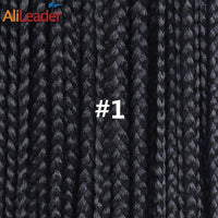 AliLeader 12 16 20 24 30 Inch 22strands/pack Crochet Braids Ombre Braiding Hair Crochet Box Braids Hair Synthetic Hair Extension