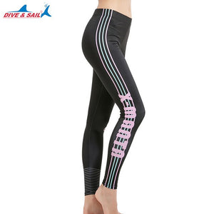Women's Long Swimming Pants Swim Tights Elastic Leggings UPF 50