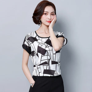 fashion plus size women blouse shirt summer chiffon 4XL ladies tops loose blouse women shirt blusas femininas blusas 0451 30