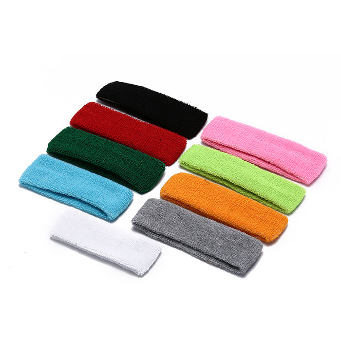 9 Colors Universal Sweatband Basketball Gym Yoga Sports Stretch Headband Head Band Hair Band Sweat Sweatband for Men Women