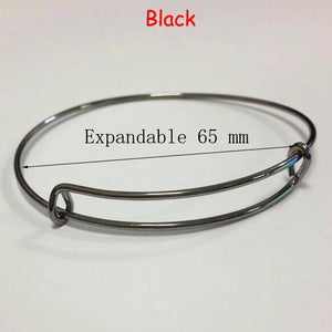 10pcs/Lot Child Adult Silver Adjustable Wire Bracelet Bangle Wrapped Wrist Cuff