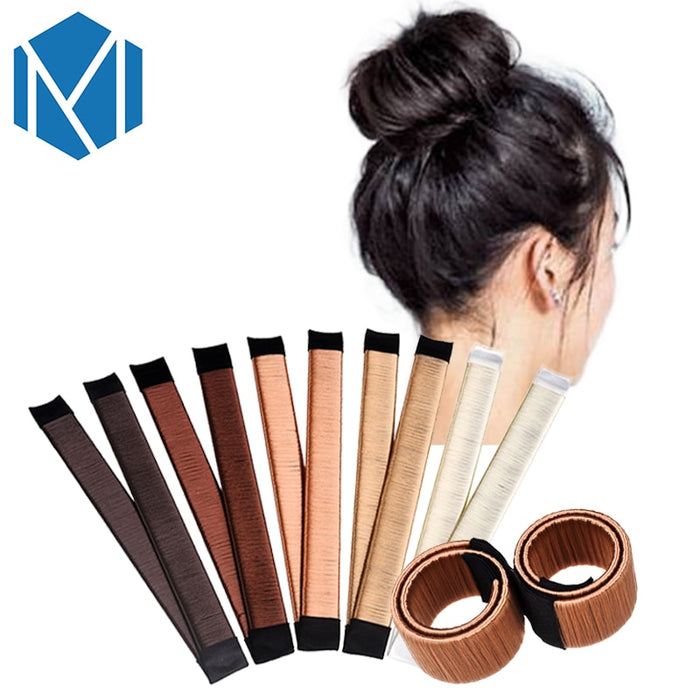 M MISM Three Size Ball Bend Magic Bun Wig Flexible French Chignon Hair Bands Making Style Hair Accessories for Women Kids