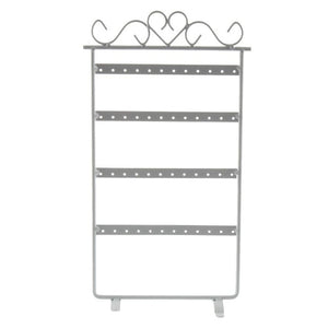 48 Hole Earrings Holder Display Rack Metal Jewelry Holder Stand Showcase 295*160mm for Girls Women