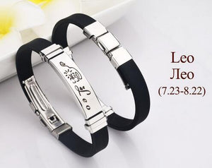 Mibrow Fashion Stainless Steel Clasps Zodiac Sign Bracelet Men Scorpio