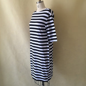 Spring Summer Dress Big Size Dress White Black Striped Dresses Plus Size
