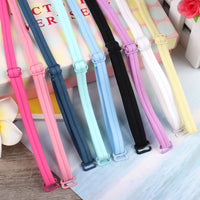 1cm Super cute kawaii shoulder straps for bra multi color elastic kawaii underwear sexy high-elestic bra accessories lovely
