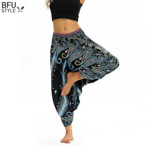 Women Soft Loose Thai Harem Pants Indie Folk Boho Festival Hippy Casual Trousers