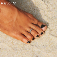 RscvonM New Toe Rings Women Charming Fashion Opening Adjustable Antique Silver Metal Toe Ring Foot Sexy Lady Beach Jewelry