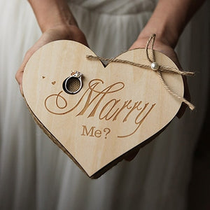 Handmade Wedding Ring Box Custom Name Letter Jewellery Box Boite A Bijoux Boite Cadeau Sieraden Doos Jewelry Boxes Ring Box