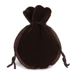 10pcs 2 Sizes Calabash Packing Drawstring Velvet Pouch Sachet Gift Bag For Jewelry Wedding Things Party Bead Container Storage
