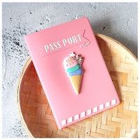 2018 New Passport Covers Cartoon Cute Pink Passport Holder Travel Accessories Bags ID Bank Card Business Holder Case For Women