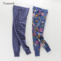 Ladies sleep trousers Spring and autumn pajama pants Cotton trousers Close up Women lounge Sleep Bottoms pants