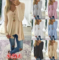 2018 Autumn and winter new European and American long-sleeved sweater sweater large size women's clothing