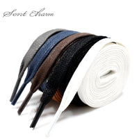 Premium SENTCHARM Flat Waxed Shoelaces Cotton Shoe Lace Width Shoestring