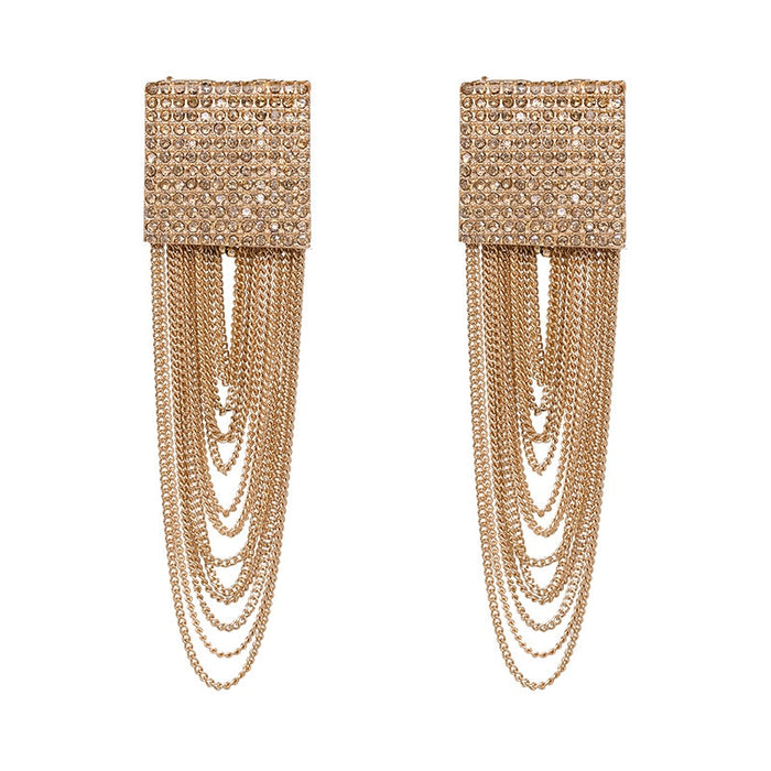 Fashion Large Geometric Crystal Dangle Earrings for Women Bohemian Charm