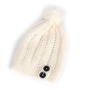 2018 Lady Girl Women Cold Warm Winter Fur Knitted Hat Slouchy Beanie Cap Warm Hat Stretchy kintted Solid Soft New