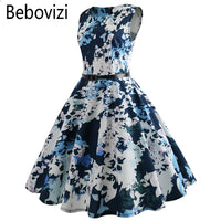 Women Dress Office Casual Vintage A-Line Girls Party Dresses Vestidos Clothing