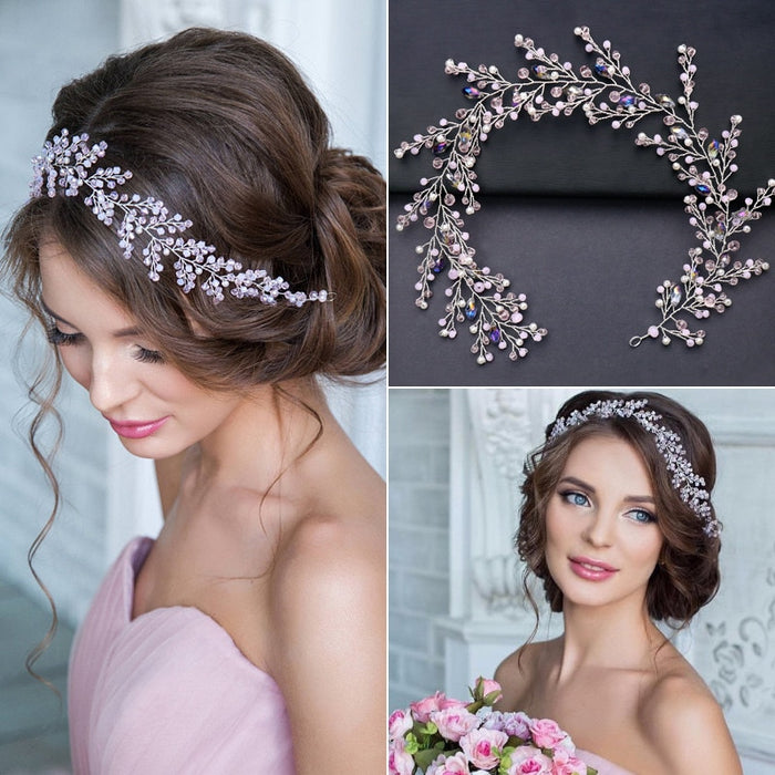 Crystal Beads Bridal Headband Rhinestone Wedding Hair Accessories Hair