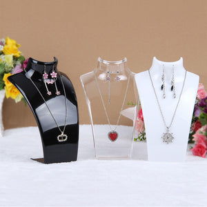 Wholesale 3 Colors 20*13.5*7.3CM Mannequin Necklace Jewelry Pendant Display Stand Holder Show Decorate Jewelry Display Shelf