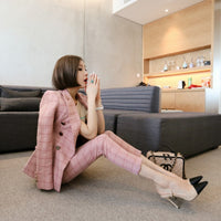 Fashion Women's Suit Jacket and Pants Two Pieces Formal Suit S