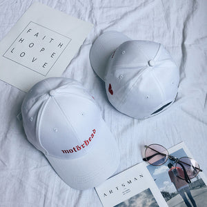 YouGeMan Korean Style Ulzzang Harajuku Embroidery Letter Curved Eaves Pink Baseball Cap For Women Hip Hop Peaked Hat Men Caps