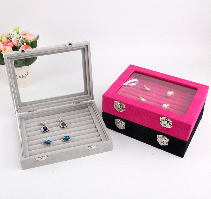 Jewelry Display Casket / Jewelry Storage Organizer Earrings Ring Box  Case for Jewlery Gift Box Jewelry Box