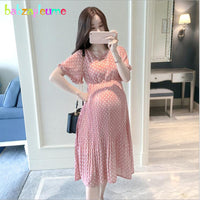 Summer Pregnancy Dress Fashion Women's Clothing 2018 Maternity