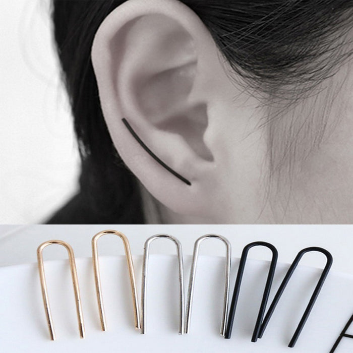 U Shape Climber Earrings Crawler Ear Pins Earrings For Women Girl Gift Minimalist