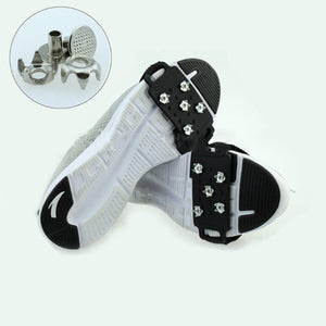 EYKOSI Anti Slip Ice Cleats Shoe Boot Gripper Crampon Spike Outdoor