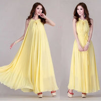 New  summer Maternity Dresses long ChiffonBohemian Dress Clothes
