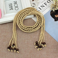 Helisopus New Decorative Waist Belt Women's Waist Rope Fashion Strap Slim Belt Tassel Knotted Waist Chain Dress Accessories