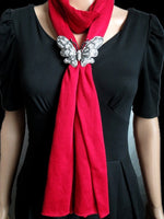 2018 new fashion butterfly pendant jewelry scarf for women 2018 autumn winter tassel scarf necklace Bufandas gifts
