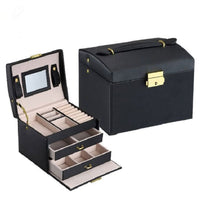 Jewelry Packaging Box Casket Box For Jewelry Exquisite Makeup Case Jewelry Organizer Container Boxes Graduation Birthday Gift