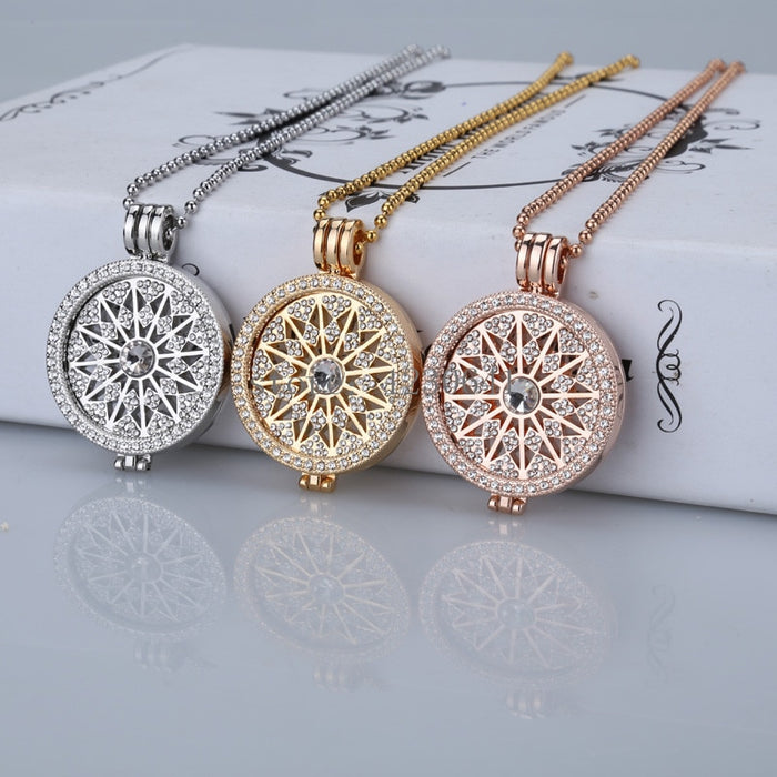 High grade sale flowes gold 35mm coin necklace  pendants disc fit my 33mm coins holder for women fashion jewelry 2019