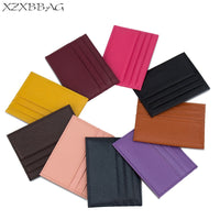 XZXBBAG Genuine Leather Card Case Men Thin Card Wallet Business ID Credit Cards Holder Women Cards Pack Cash Pocket Cardholder